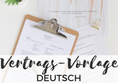 Vertragsvorlage für Hochzeitsplaner deutsch