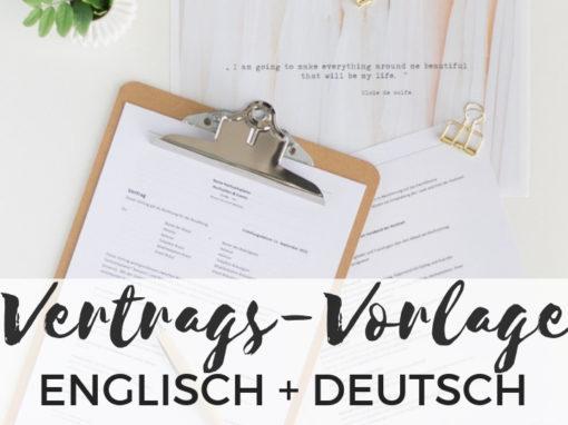Vertragsvorlage für Hochzeitsplaner Bundle DE + EN
