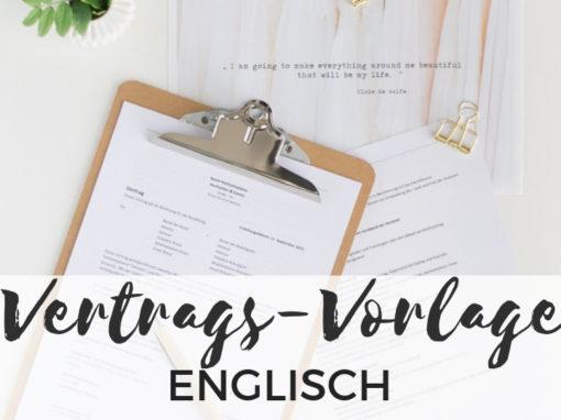 Vertragsvorlage für Hochzeitsplaner englisch